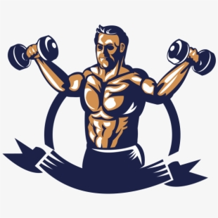 Dumbbell clipart lift weight. Fitness lifting bodybuilder with