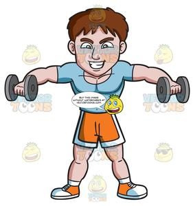 A man lifting dumbbells. Dumbbell clipart lift weight