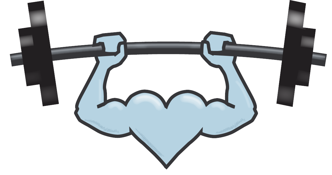 Dumbbells clipart personal fitness. Silver heart for seniorssilver