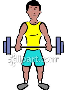 Dumbbell clipart muscular force. Muscle man free download
