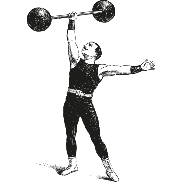 Dumbbell clipart olympic barbell. Strongman weightlifting exercise transprent
