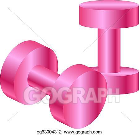 Eps illustration dumbbells vector. Dumbbell clipart pink dumbbell