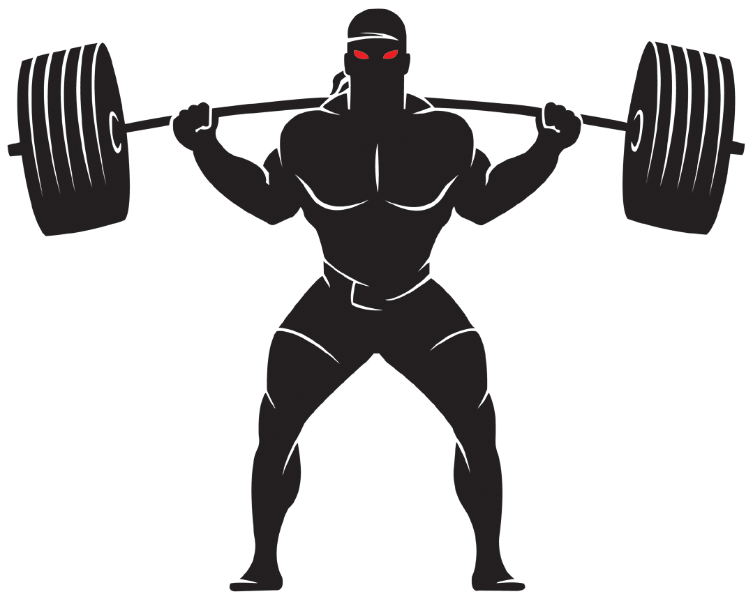 Weightlifting logos . Dumbbell clipart powerlifting