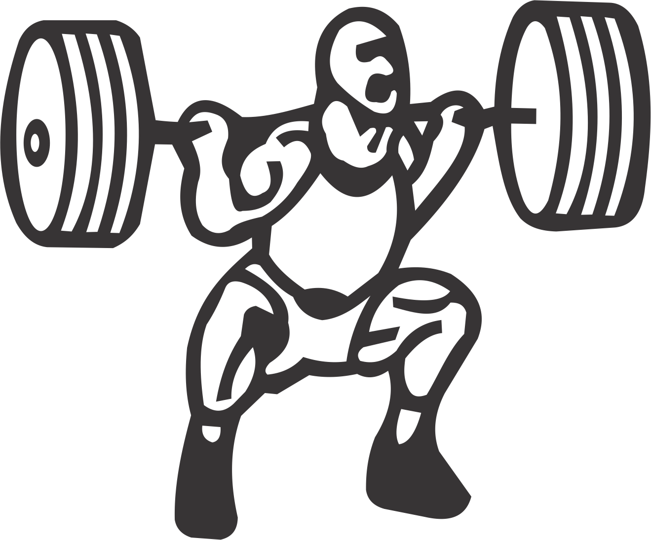 Dumbbell clipart powerlifting. Male powerlifter usa custom