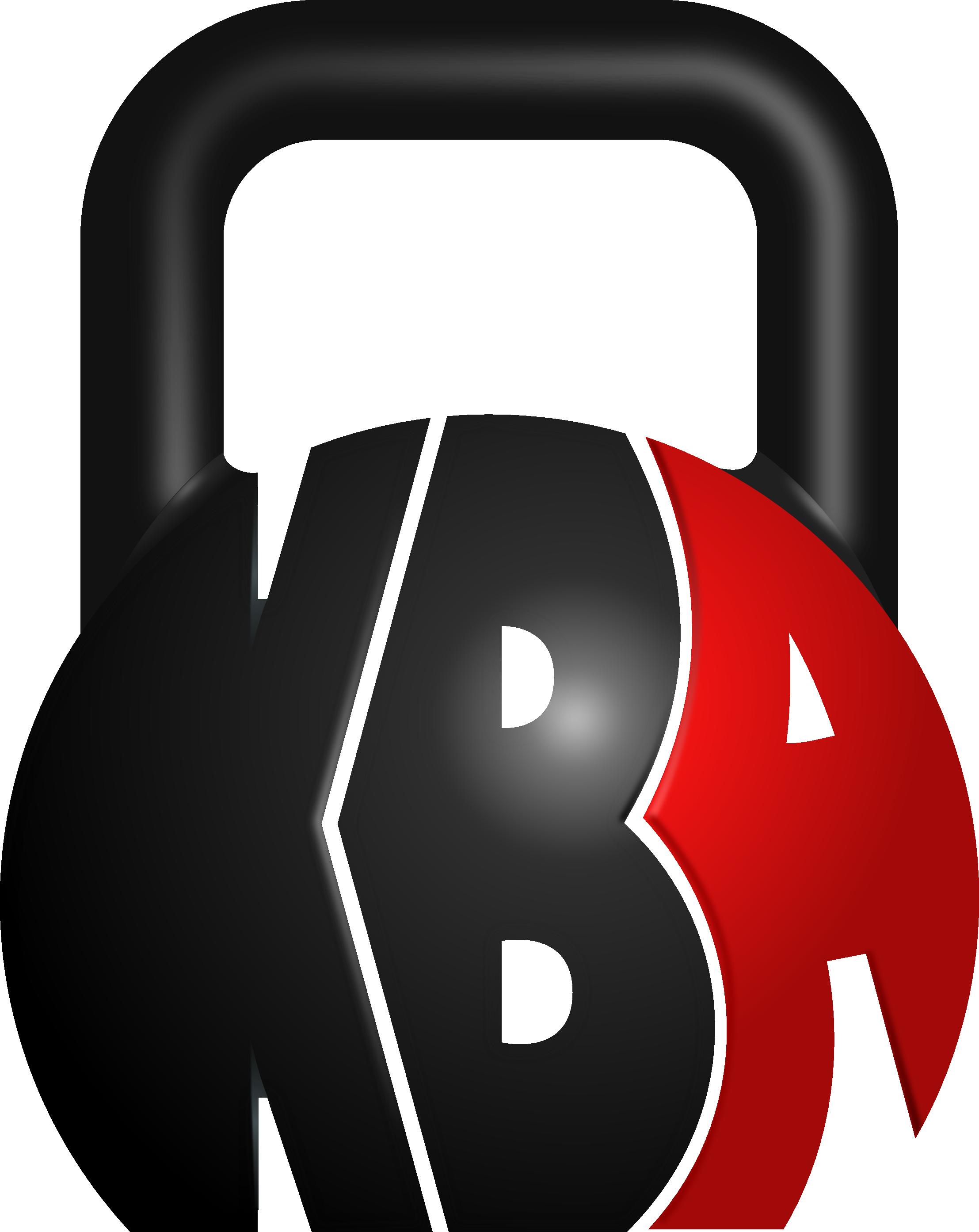 Kettlebell logo clip art. Dumbbell clipart red