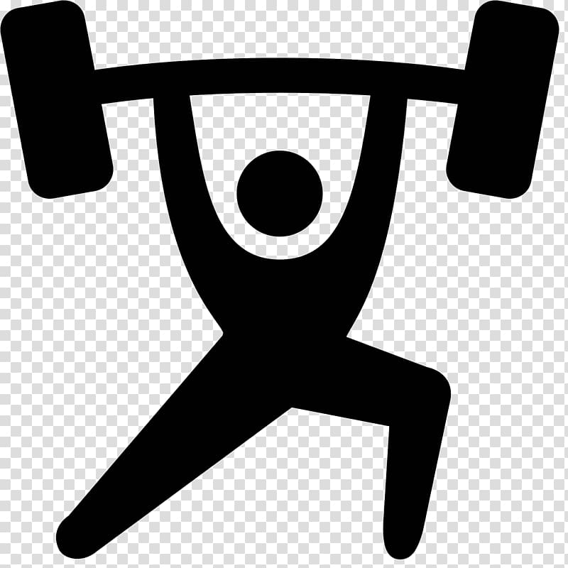 Dumbbell clipart silhouette. Olympic weightlifting weight training