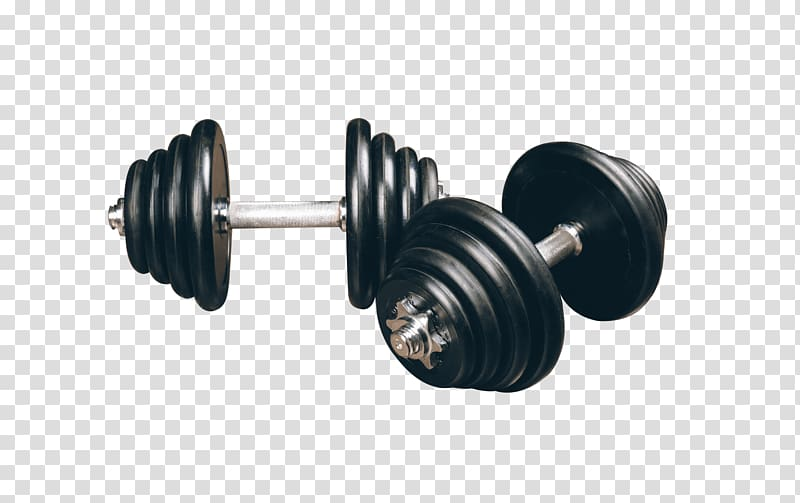 Two black dumbbells weight. Dumbbell clipart sport training