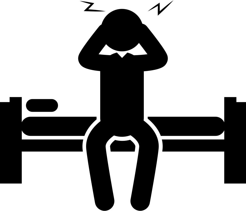 Sleepy man sitting on. Dumbbell clipart squat
