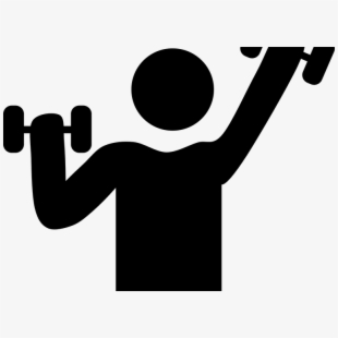 Free strength cliparts silhouettes. Exercising clipart exercise training