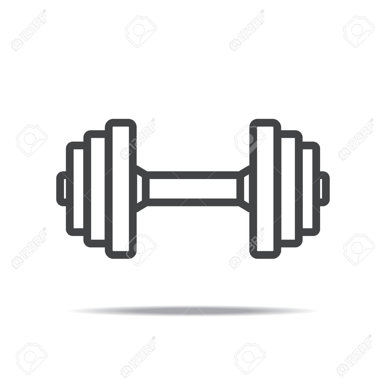 Dumbbell clipart vector. Icon portal