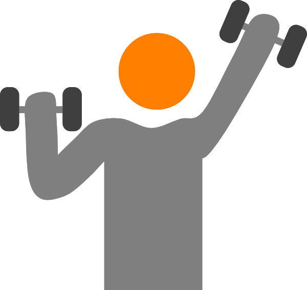 Lifter clip art at. Dumbbells clipart weight lifting