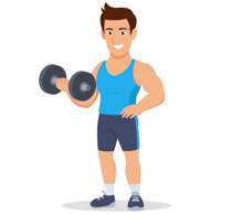 Sports free weightlifting to. Dumbbells clipart strength