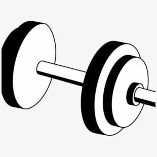 Free weight black and. Dumbbell clipart wieght