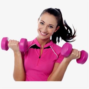 Female doing sport png. Dumbbell clipart woman fitness