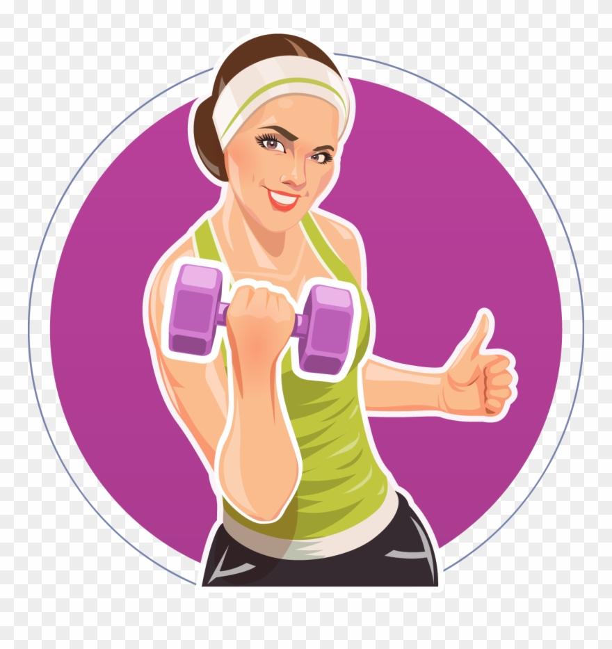 Dumbbell clipart woman fitness. Physical illustration daren transprent