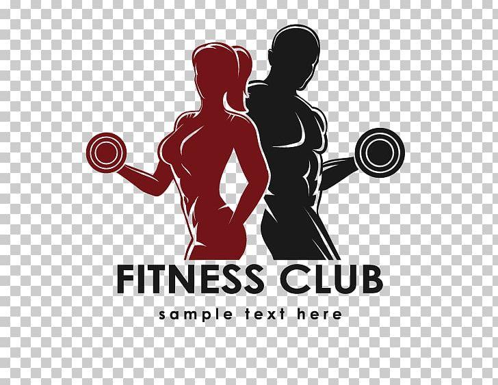 Dumbbell clipart women's fitness. Physical logo centre bodybuilding