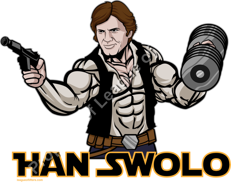 Han swolo league of. Dumbbell clipart workout gear