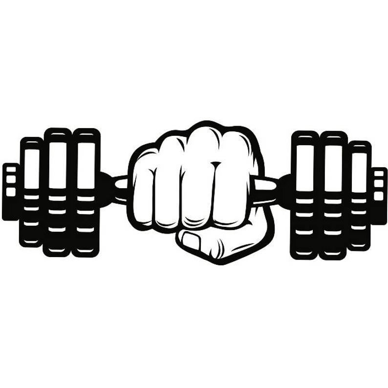 Dumbbell clipart workout gear. Hand weightlifting bodybuilding fitness