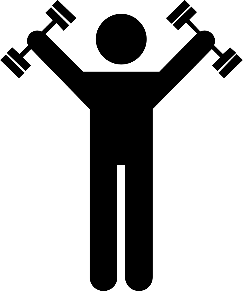 Exercise clipart transparent background. Dumbbells svg png icon