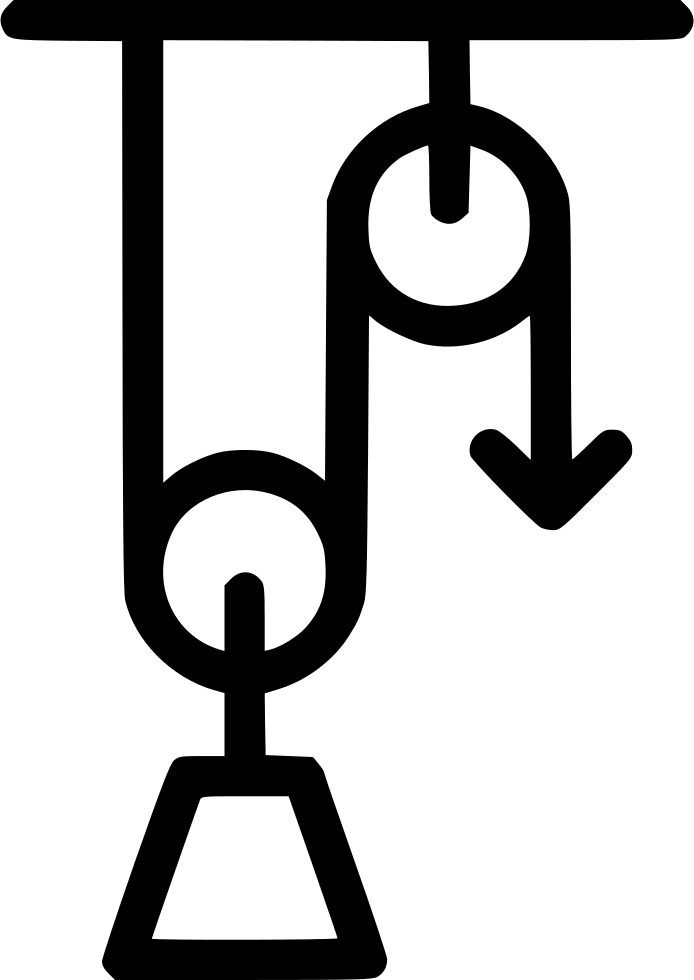 Pulley load weight lever. Physics clipart physics laboratory