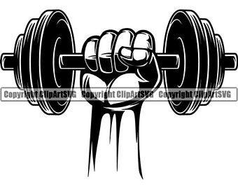 Dumbbells clipart fitness program. Dumbbell etsy