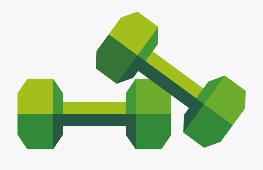 Dumbbells clipart free weight. Green dumbbell png download
