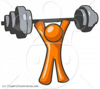 Pin on fitness . Dumbbells clipart muscular strength exercise