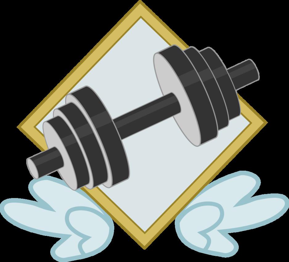Dumbbells clipart vector. Bulk biceps band logo