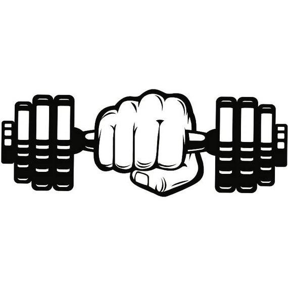 Dumbbells clipart vector. Dumbbell hand weightlifting bodybuilding