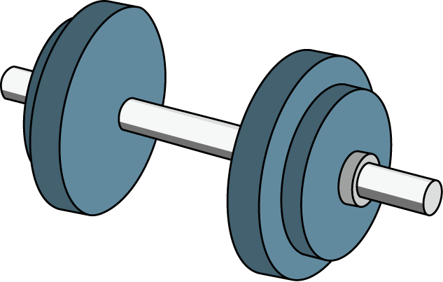 Dumbbell blue silhouette no. Dumbbells clipart workout gear