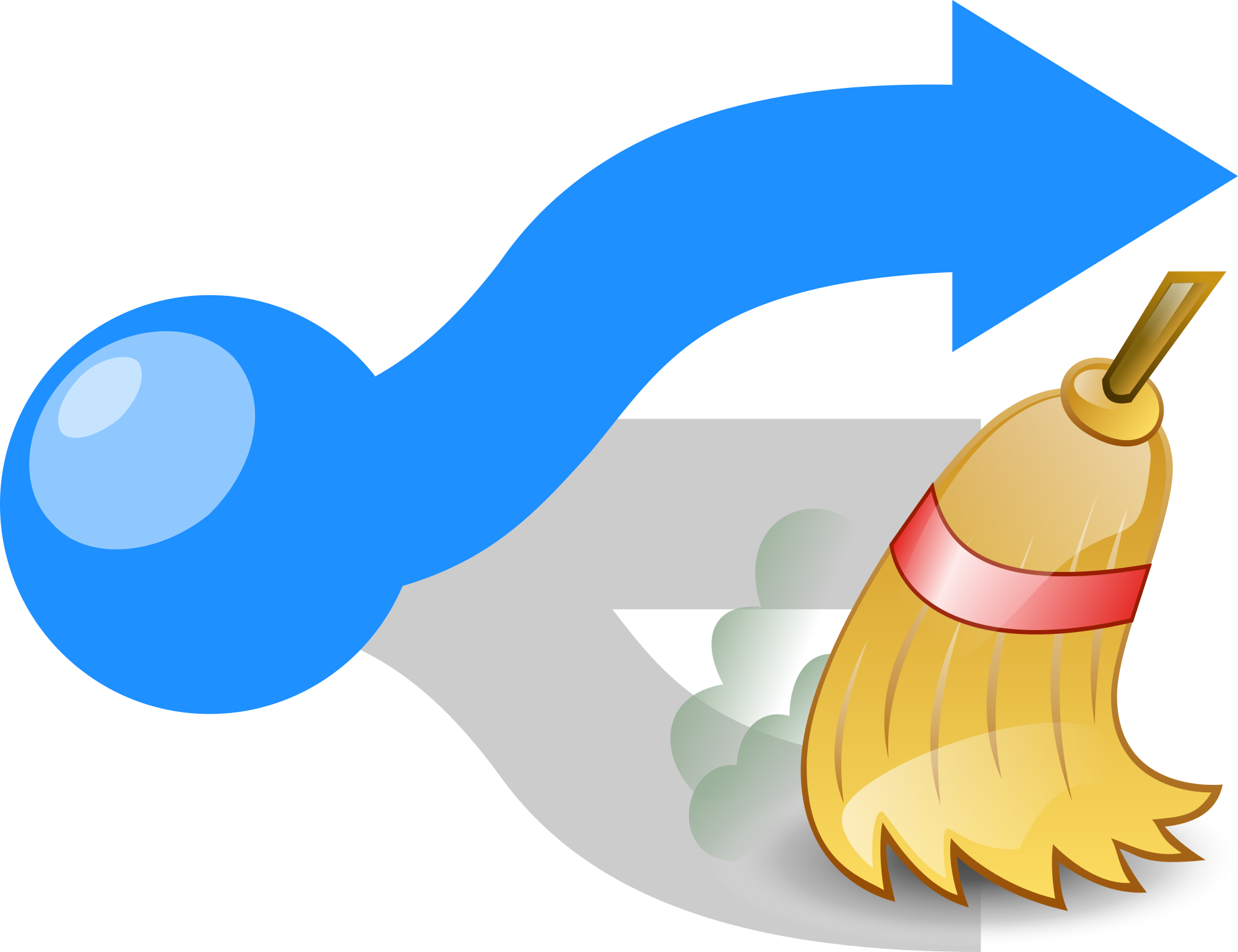 Dust clipart broom sweeping. File disambig azure icon