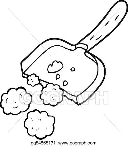 Dust clipart cartoon. Vector black and white