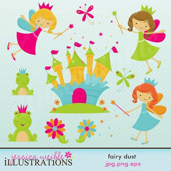 Fairy digital commercial use. Dust clipart cute