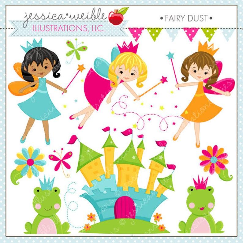 Dust clipart cute. Fairy digital commercial use