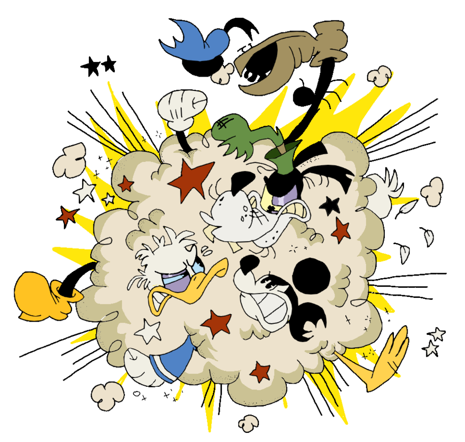 Buddy brawl by eeyorbstudios. Fight clipart cloud