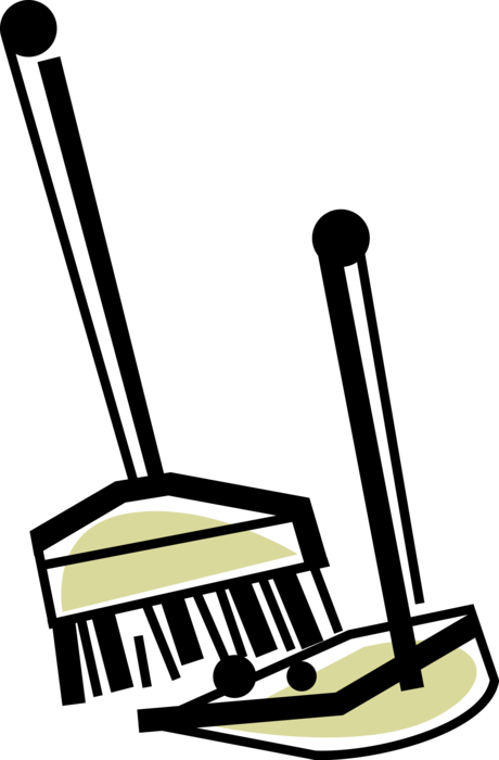 And dustpan vector image. Dust clipart dust pan broom
