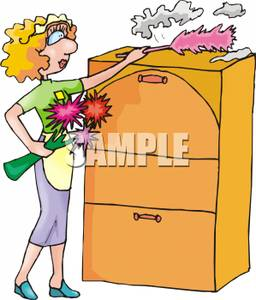 A maid the top. Dust clipart dusting