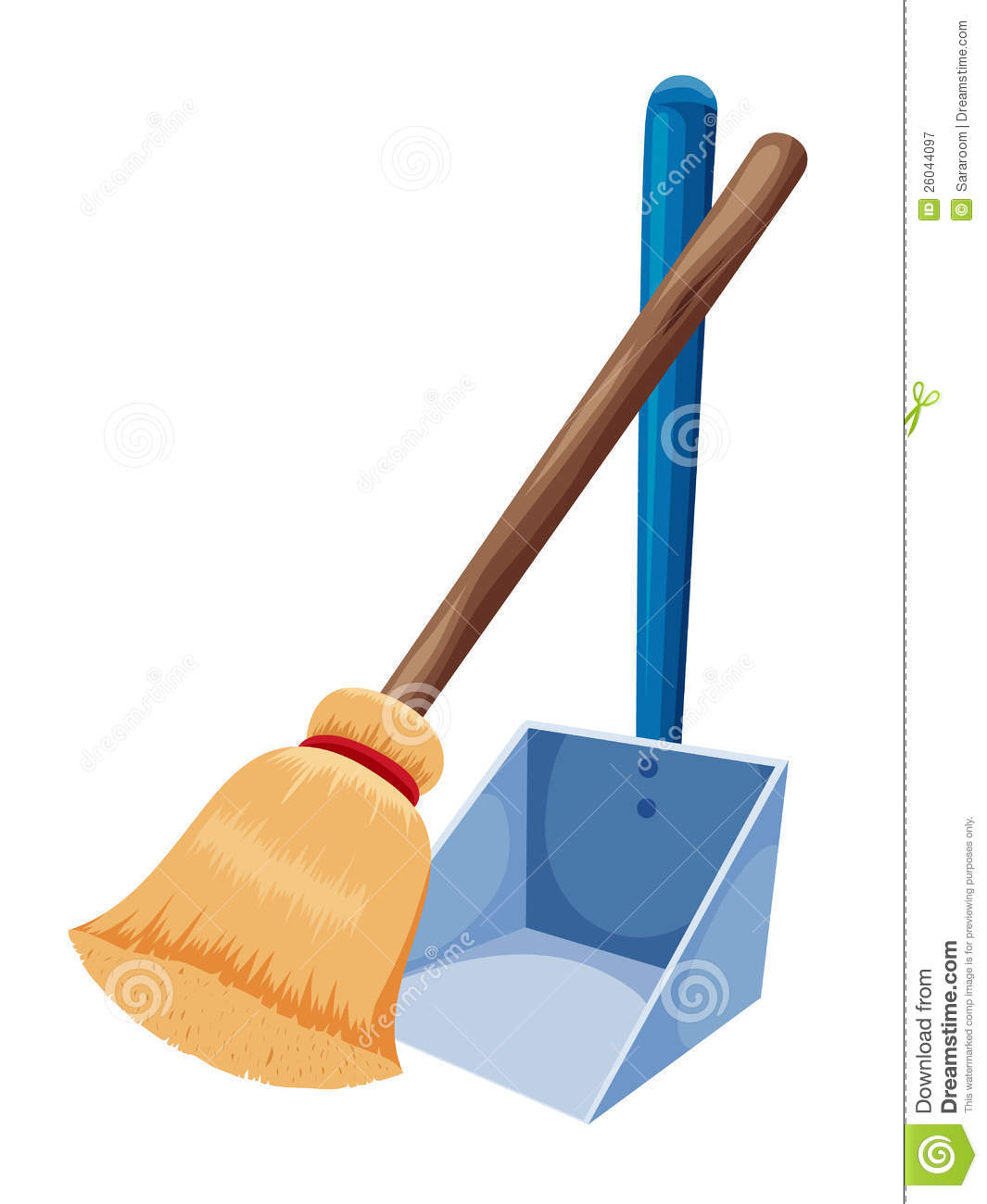 Dust clipart dustpan brush. Pan and broom