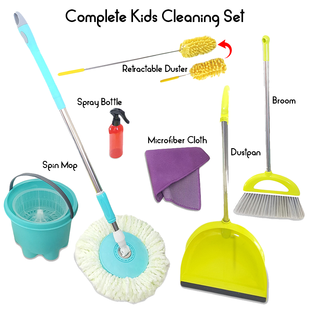 Dust clipart dustpan brush. Toddler cleaning toy set