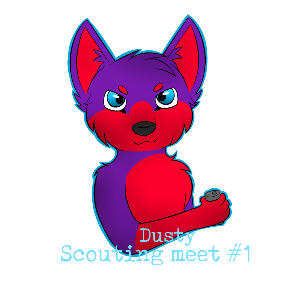 Dust clipart dusty. Scouting meet badge by