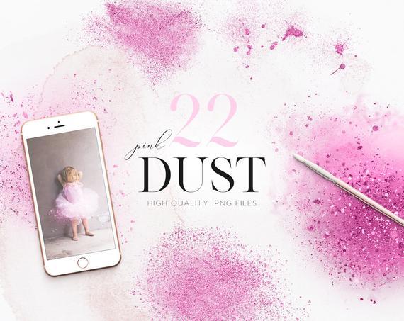 Dust clipart glitter dust.  pink clip art