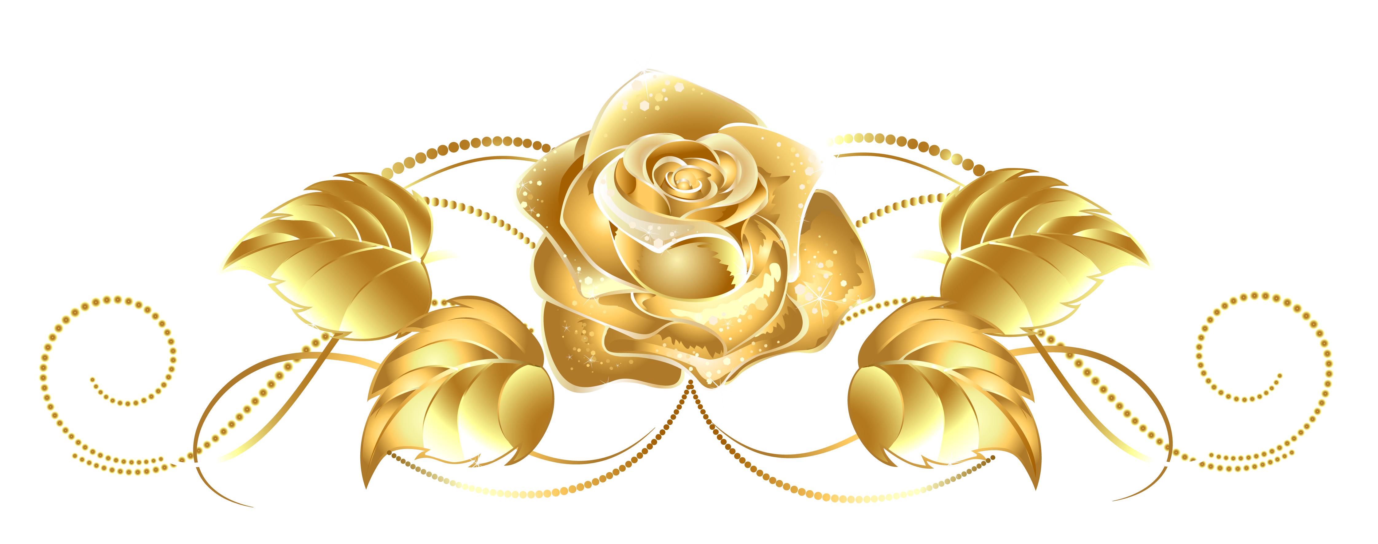 Beautiful rose decor png. Dust clipart gold