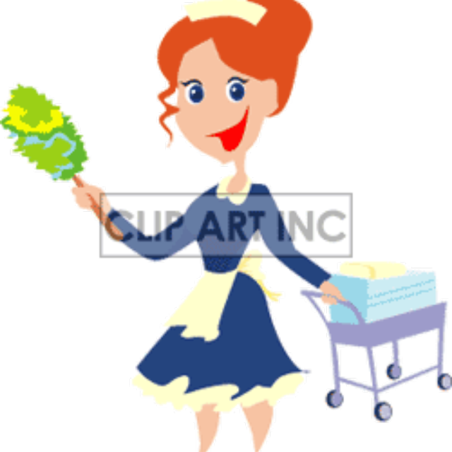 Maid clipart cleaning lady. House available in golden