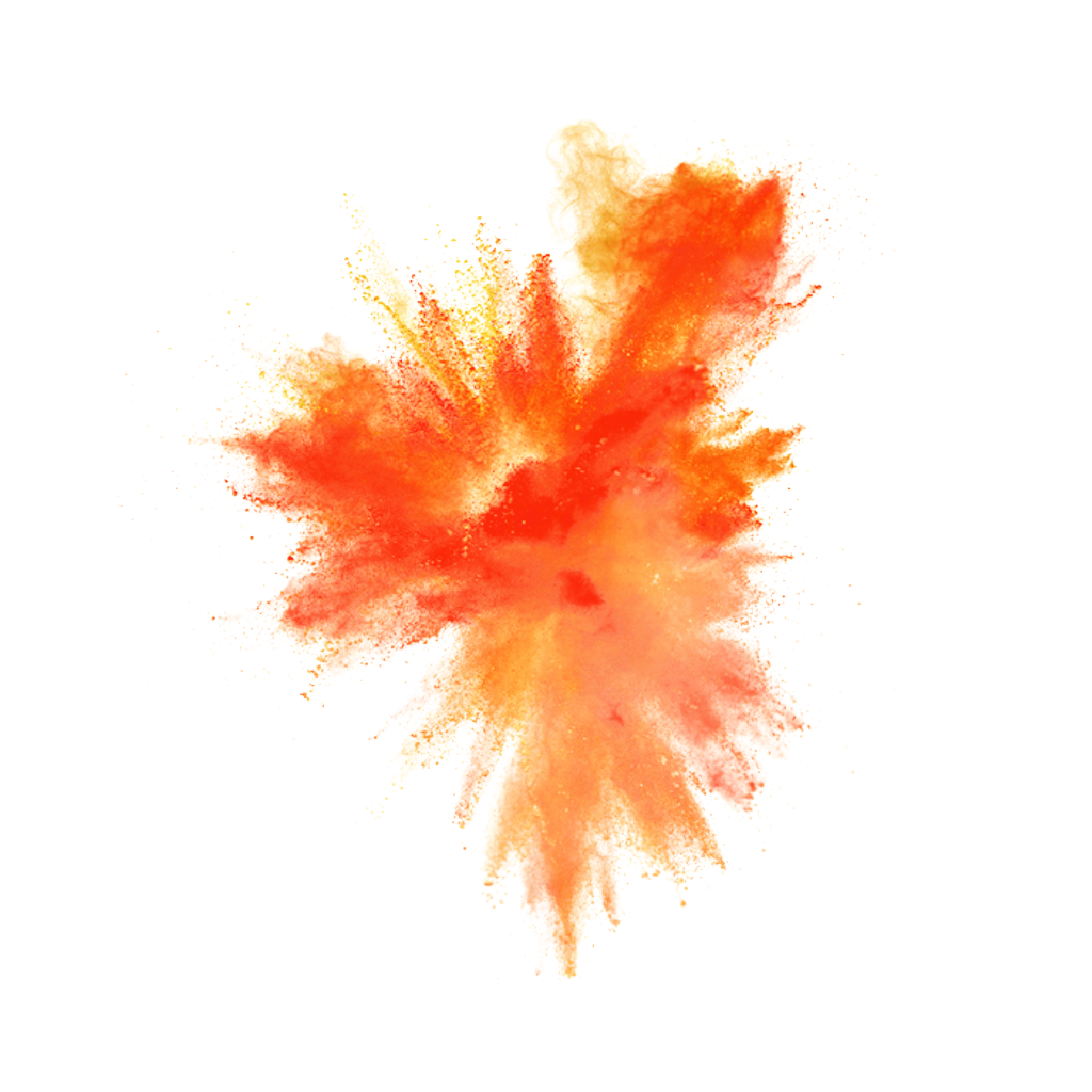 Polvo explosion explosi n. Dust clipart orange