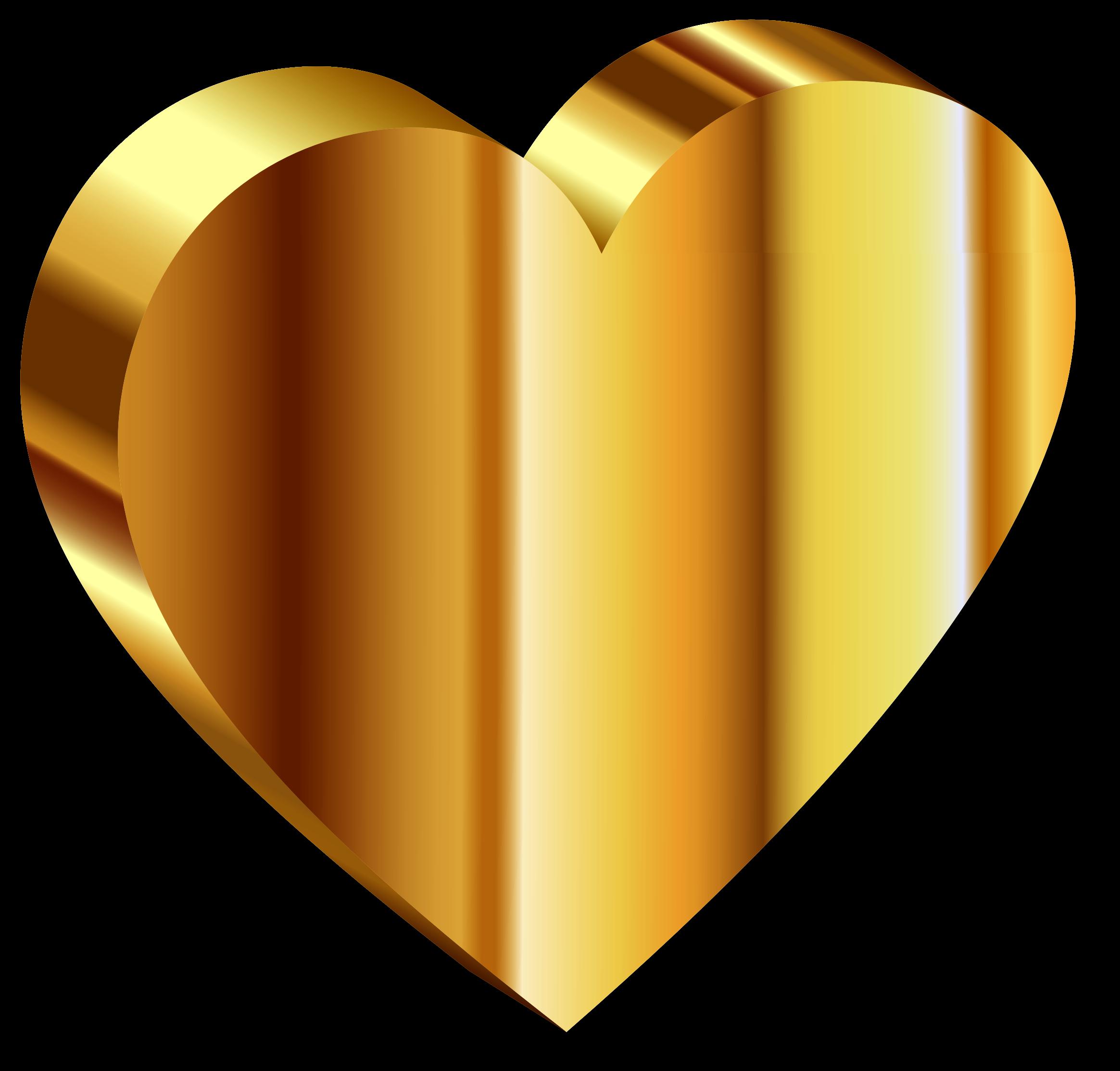 Gold heart png image. Dust clipart orange
