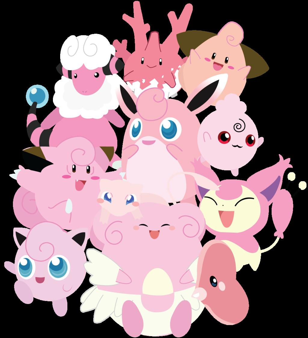 Pink pokemon unite by. Dust clipart pixi