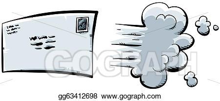 Stock illustration fast letter. Dust clipart speed