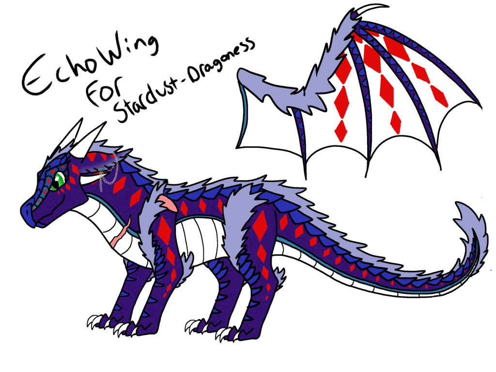 Custom echowing for dragoness. Dust clipart stardust