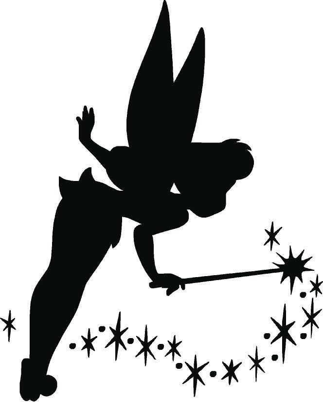 Pin on wall decals. Dust clipart tinkerbell silhouette