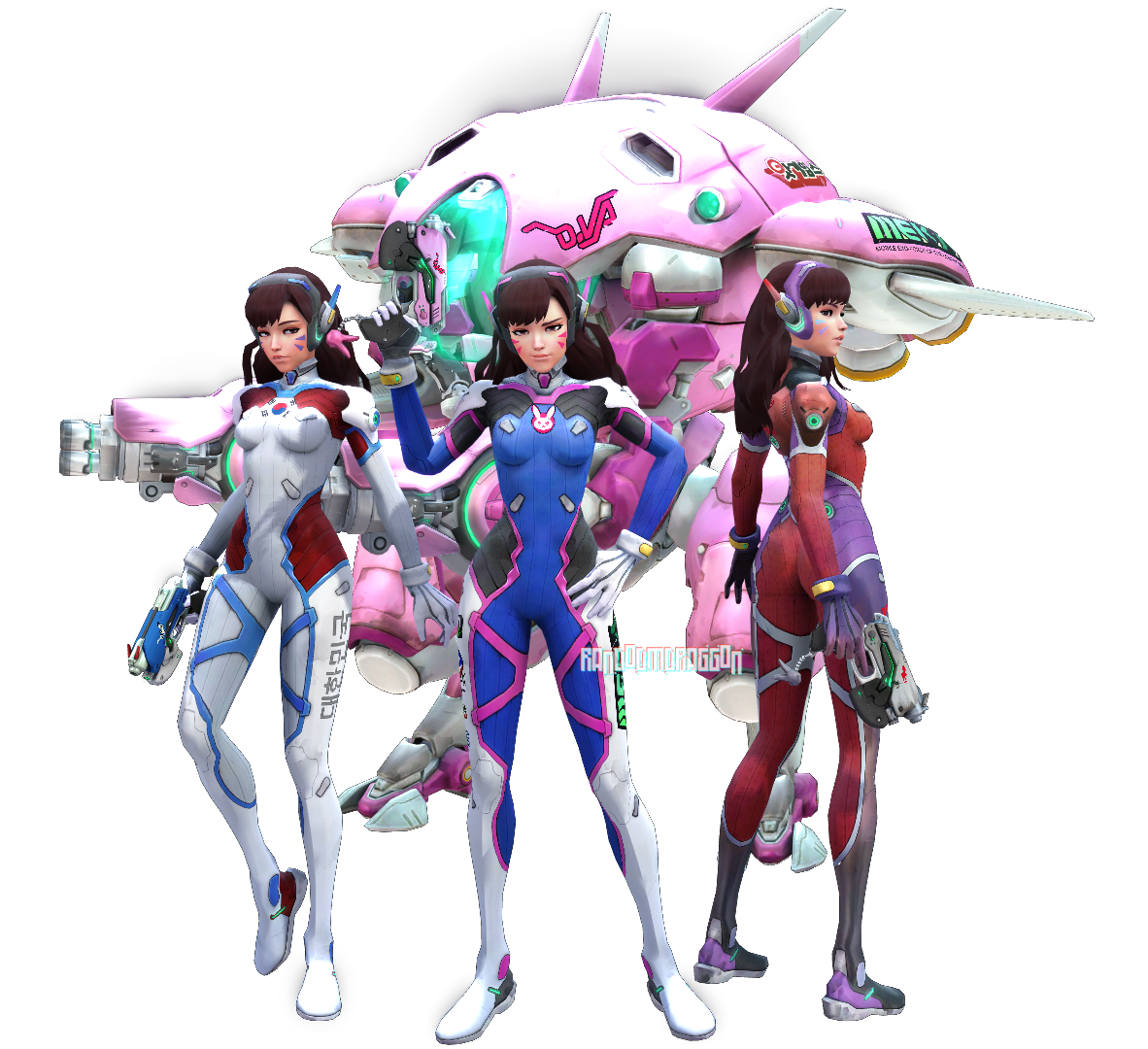 Dva overwatch png.  for free download